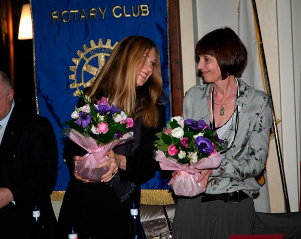 Anna Fileppo e Jill Mathis 2015<br>Rotary Club Novara San Gaudenzio